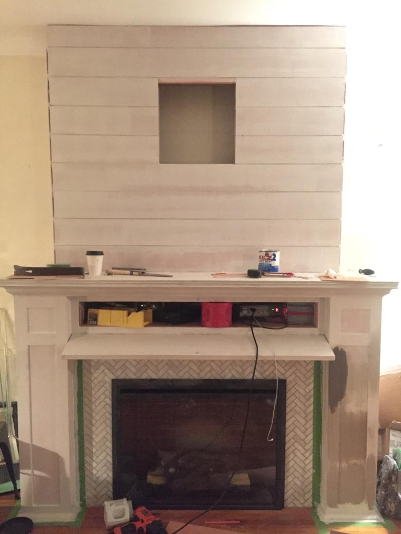 how to build a fireplace part 2 moldings faux flue paint
